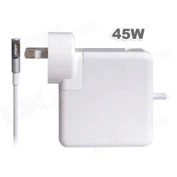 45W 5-Pin Magnetic Plug AC Power Charger Adapter for Apple Macbook Pro - White (AU Plug / 100~240V)