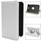 Lychee Pattern Protective 360 Degree Rotation PU Leather Case for Samsung Galaxy Tab 3 P3200 - White