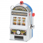 Mini Jumbo Casino Slot Machine Style Keychain w/ LED / Sound Effect - Blue + Silver (3 x G12-A)