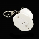 Cool Ghost Keyring w/ Light / Sound - Silver + White (3 x AG10)