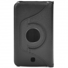 Lychee Pattern Protective 360 Degree Rotation PU Leather Case for Samsung Galaxy Tab 3 P3200 - Black