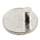 Cylindrical NdFeB Magnet - Silver (5 PCS)