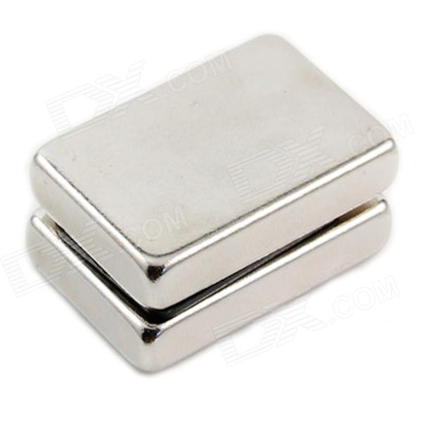 10050044W DIY Rectangular NdFeB Magnets - Silver (30*20*5mm / 2PCS)