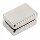 10050044W DIY Rectangular NdFeB Magnets - Silver (30 x 20 x 5mm / 2 PCS)