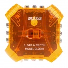 DALONGQI DLQ-301 3-Circuit Video-Audio Switcher - Orange