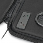 "Portable Shock-Resistant Case w/ Dual Audio Speaker for 7"" Tablet PC - Black"