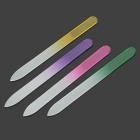 Crystal Float Glass Nail File Set - Green + Red + Purple + Yellow (4 PCS)