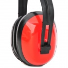 Noise Reduction Protection Ear Muffler - Black + Red