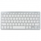 Mini Portable Wireless Keyboard for Ipad Iphone Mac Android - White + Silver