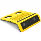Subwoofer Notebook Cooling Pad - Yellow + Black