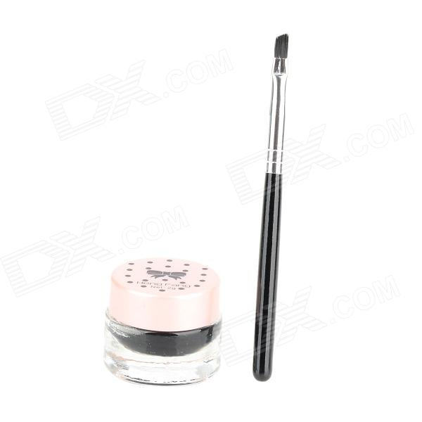 HengFang 52135 Princess Style Water Resistant Eyeliner Gel w/ Brush - Black hengfang 52135 princess style water resistant eyeliner gel w brush black