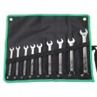 Pro'skit HW-6509B Combination Wrenches / Spanners Set - Black + Green (Metric / 9 PCS)