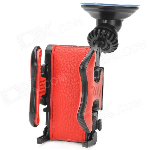 Multifunctional Car Mounted 360 Degree Rotating Holder Station for Iphone / GPS - Black + Red