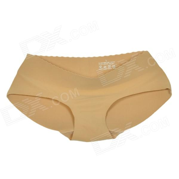 Sponge + Polyester Seamless Traceless Butt Lifting Women's Underpant - Flesh Color (Size L)