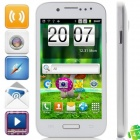 "Mini S4 Android 4.2.0 GSM Bar Phone w / 4.0 ""kapazitiver Schirm, Quad-Band, FM-und Wi-Fi - Weiß"