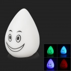 Cute Raindrop Style Colorful LED Decorative Lamp - White + Black (3 x AG13)