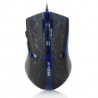 FC-5160 USB 2.0 Wired Optical 3200dpi Gaming Mouse - Black + Blue