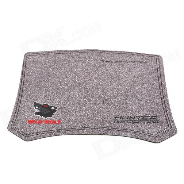 PVC + Bamboo Carbon Anti-Slip Mouse Pad - Grey + Black