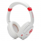 KUBITE Stylish Wireless TF Card MP3 Headset w/ FM - White + Red (16GB)