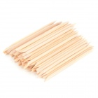 Nail Art Orange Holz Nagelhautschieber Remover Stick - Wood (100 PCS)