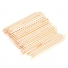 Nail Art Orange Wood Cuticle Pusher Remover Stick - Wood (100 PCS)