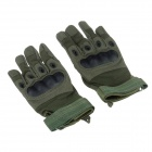Stylish Tactical Protective Full-Finger Gloves - Army Green (Pair / Size-M)