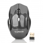 RAJFOO F4 Wireless USB 2.0 Optical 1000 / 1600dpi Maus - Schwarz (2 x AAA)
