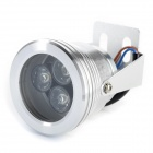 9W 320lm 3200K 3-LED Warm White Spotlight w/ Optical Lens - Silver