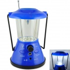 Electric 3-LED White Light Camping Lamp w/ Radio - Blue + Black (3 × AA)