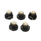 D&Z F322Y T3 Replacement 61lm Yellow Light 3014 SMD LED Instrument Lamp - Black (5 PCS)