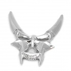 Cattle Devil Style Plastic DIY Car Decorative Sticker - Silver
