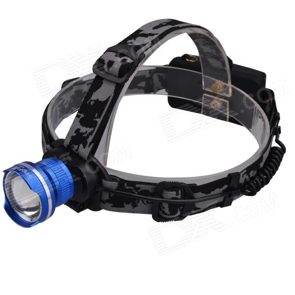 SingFire SF-601B 609lm LED 3-Mode White Zooming Headlight w/ CREE XM-L T6 - Blue + Black + Silver