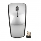 WM-R Folding 2.4GHz 1000/1200 / 1600dpi Wireless Optical Mouse - Silber + Schwarz (2 x AAA)