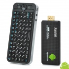 Jesurun  MK809III Quad-Core Android 4.2 Mini PC+ Russian Fly mouse - Black