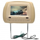 "7"" Screen Wireless IR Headrest Monitor / DVD Player w/ FM / AV / Remote Controller - Beige"