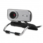 USB 2.0 Wired 1.3MP Clip-On / Desktop Webcam Camera - Black + Silver
