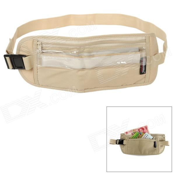 TravelIcons TF079S Travel Waterproof Anti-theft Cotton + PVC Waist Bag - Khaki