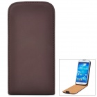 HOTSION Protective PU Leather Case for Samsung Galaxy S4 i9500 - Brown