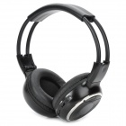 Vehicle-mounted Foldable Infrared Wireless Headset - Black + Silver