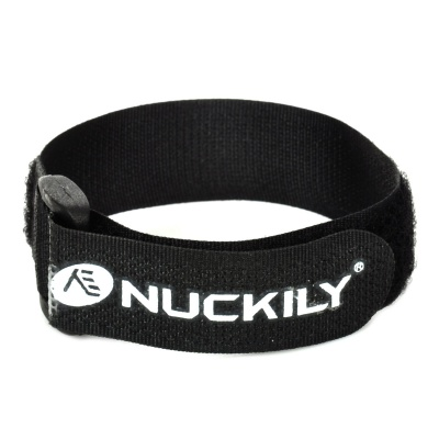 NUCKILY Adjustable Velcro Fixing Band / Strap for Bicycle Pump - Black