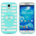 Summer Skeleton Hollow-out Protective Back Case for Samsung Galaxy S4 / i9500 / 9508 - Powder Green