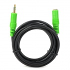 Pinguocb PGJD305 3.5mm Male to  Female OFC Audio / VideoConnection Cable - Black + Green (1.8m)
