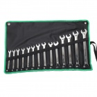 Pro'skit HW-6514B Combination Wrenches / Spanners Set - Black + Green (14 PCS / Metric)