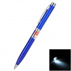 HHL-JGB-01-HEISE 5mw 650nm Red Laser Pointer + Black Ink Pen - Blue + Silver (3 x LR41)