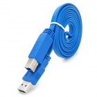 UNITEK Y-C413 USB 3.0 AM-BM Flat Printer Extension Cable - Blue (152cm)