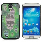 Protective 3D Skull Pattern Plastic Back Case for Samsung i9500 / Galaxy S4 - Black + Green