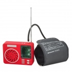 "LaoTouLe GL-025A 2.45"" LCD Multifunctional Electronic Sphygmomanometer w/ MP3 Player / FM / TF - Red"