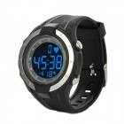 Outdoor Multifunction Cordless Heart Rate Monitor / Wrist Watch w/ Chest Belt - Black + Silver
