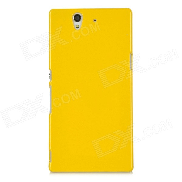 Protective Plastic Hard Back Case for Sony L36H - Yellow protective plastic case for motorola razr xt910 yellow