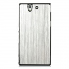 Protective Aluminum Alloy Wire Drawing Back Case for Sony Xperia Z/L36H/C6603 - Black + Silver